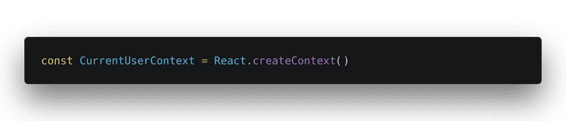 Using React.createContext() to create the new context